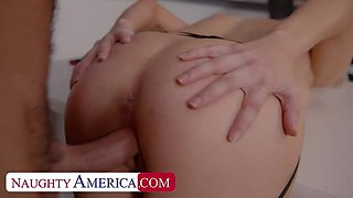 Naughty America: Ava Sinclaire fucks her student after class! on PornHD