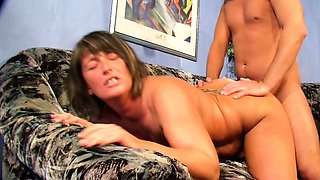 GERMAN STEP MOM AND AUNT SEDUCE STEP SON TO 3SOME SEX