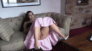 softcore oriental schoolgirl brassiere panty upskirt tease