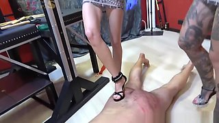 Femdom 2018 house slaves of young girls Sexy brutal ballbusting and slaps
