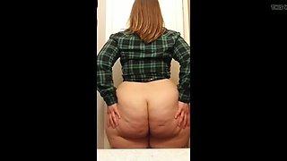 Huge Fat Ass Cheeks Nice Flannel shirt
