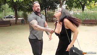 Jealous girlfriend Julia de Lucia is fucked hard in mouth and anus