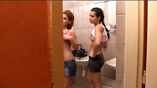 Toilet Femdom with 2 Dominatrices