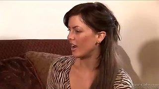 Nina Hartley Hot teacher milf and sexy student Mia Presley lesbian scene
