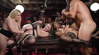 Bdsm party with dozen of orgasms, fisting and hardcore sex