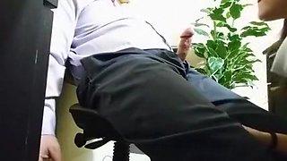 Sucking my boss off before I go