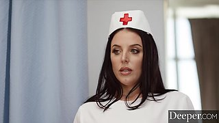 Deeper. Sexy nurse Angela White takes care of patient Manuel on PornHD