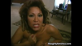 Hot African prostitute rides a huge cock for money