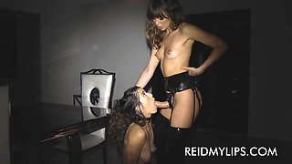 Riley's looking good with a strap-on