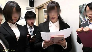Adorable Asian schoolgirls satisfy their desire for cock