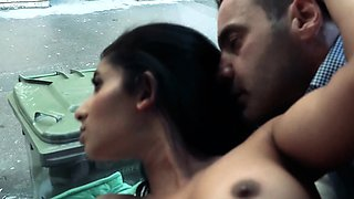 Hot Ria Rodrigez gives an intense blowjob to a stranger