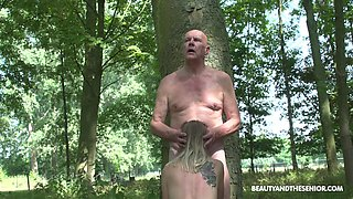 Having met old pervert in the woods fresh gal Lily Ray is fucked missionary