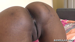 Interracial doggy fuck and cum inside