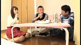 Luscious Japanese housewives enjoying hardcore sex action