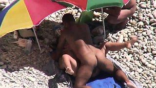 Nudist wife shared by husband on nudist beach