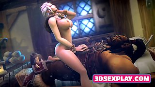 Video Games Horny Whores Gets Pussies Pounded by a Big Long Cock