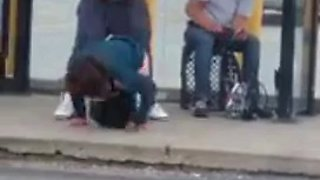 Drunk Girl Fucked At Bus Stop