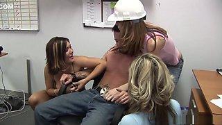 Horny pornstars Claire Dames, Riley Shy and Jessica Shaw in hottest brazilian, masturbation porn movie