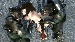 Tifa in hentai gang bang 3D movie