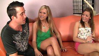 Crazy pornstars Darcy Tyler and Ashlynn Leigh in incredible brazilian, college xxx movie