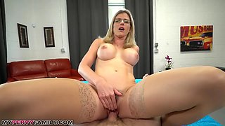 Busty Blonde Mom Letu2019s Step-Son Creampie Her Hairy Pussy To Relieve Stress - MyPervyFamily