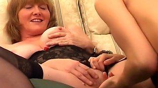 Lesbian Grandma Gets Fresh Meat