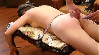 Firecupping hardspanking and sexmashine in her bdsm session