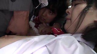 JAV - schoolgirls pairing up on trains... still not safe! ♥