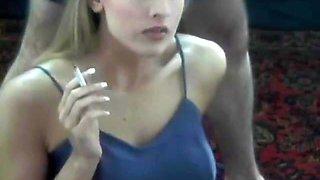 Julie Robbins smoking