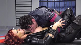 Captain America persuades big-tittied Black Widow to take his side
