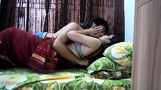 Adorable Indian babe with lovely tits has a passion for cock