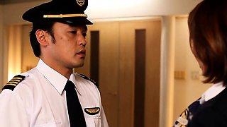 Asian milf flight attendant rammed in ass