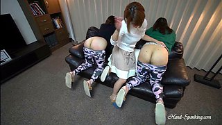 Mother&#39s Concern Double Spanking in Leggings