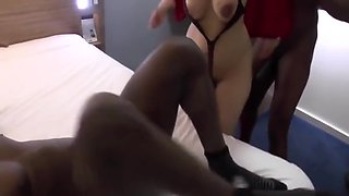 Cuckold Husband Shares His Gorgeous Wife With Two Black Studs, Part 1