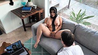 MILF Chanel flashing her nice big titties