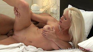 Mom xxx: MILF with big tits has multiple orgasms