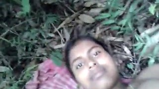 Indian teen from village having sex at jungle (sexy armpit)