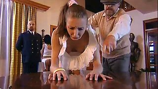 2 girls punished for lesbianism with belt and paddle