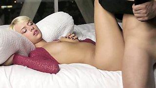 Unique blonde glamour in art erotica