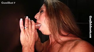 buff babe gets a lot of sperm proteins