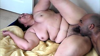 Fat brunette takes every inch of black meat at every angle