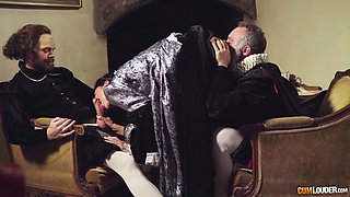Sexy medieval wife Jasmine Jae gives her head and gets fucked anally