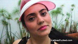 Fucking Curvy Latina amateur Camila on casting
