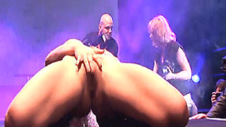 milf sex show on public stage