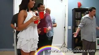 Merry Christmas! Wifey CUCKS husband with BBC at Party in front of Guests
