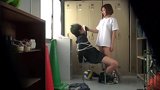 Japanese Schoolgirls Capture him and then take Turns Fucking him