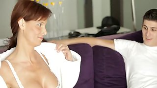 Taboo Not Mom teaches step daughter