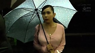 Busty Asian mom fucked hard and facialized in a public place