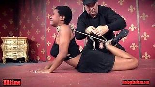 Tiedup nubian toyed and throatfucked