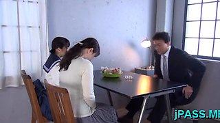 Goluptious yuri shinomiya blows dink gets ready for fuck